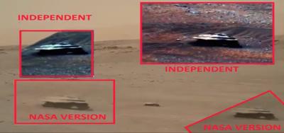 Hình ảnh về tàu vũ trụ kim loại trên sao Hỏa bị NASA cố ý làm mờ?