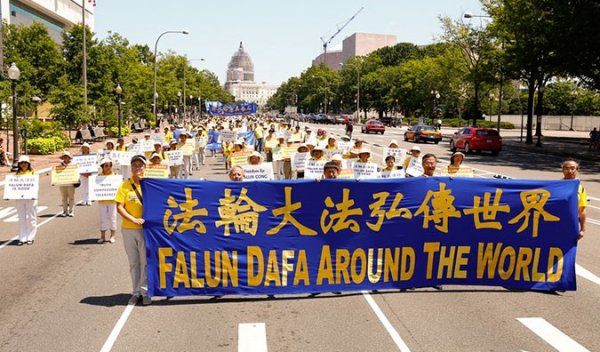 Diễu hành tại nhiều quốc gia trên thế giới đánh dấu 16 năm Pháp Luân Công bị đàn áp