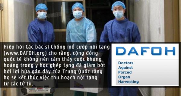 Các bác sĩ công bố những dối trá của ngành kinh doanh ghép tạng tại Trung Quốc