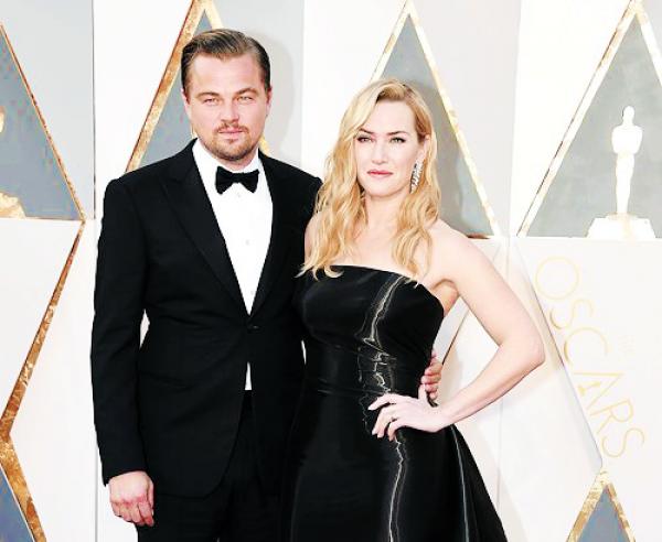 Bộ đôi 'Titanic' tái ngộ trên thảm đỏ Oscar 2016