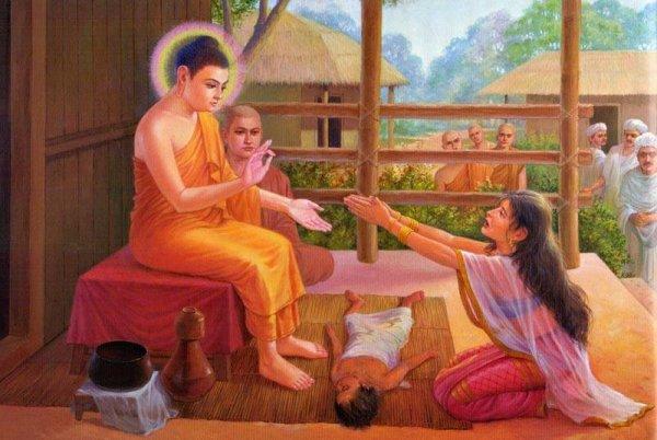 Đau khổ vì mất đi người thân và cuộc gặp gỡ với Đức Phật