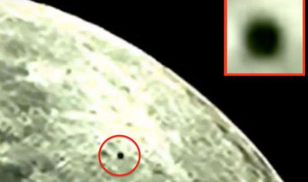 Phát hiện quả cầu đen bay qua Mặt Trăng nghi là UFO