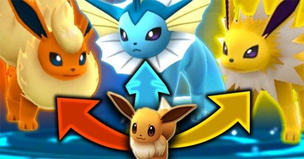 Thủ thuật Pokémon Go: Tiến hóa Eevee thành bất cứ loại Pokémon nào