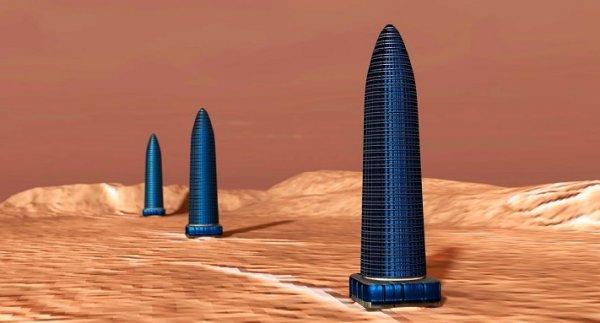 Phát hiện 3 tòa tháp khổng lồ xếp hàng thẳng đứng trên Sao Hỏa