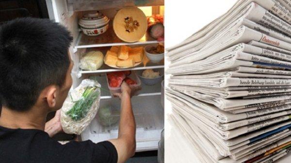 Trước khi vứt giấy báo cũ, ít nhất hãy vo lại cho vào tủ lạnh một đêm