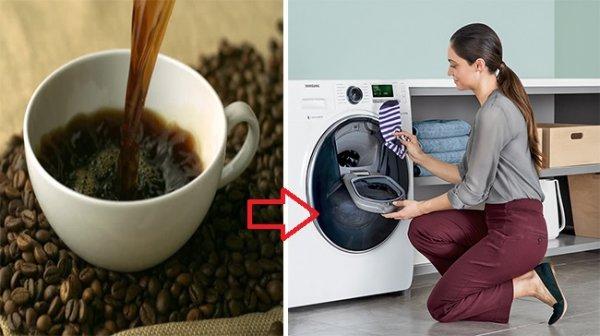 Đổ cà phê vào máy giặt, mẹo siêu hay ho chị em nên biết