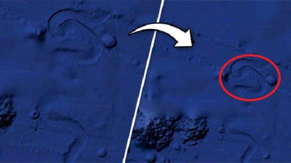 Phát hiện vật thể bí ẩn dưới đáy Thái Bình Dương qua Google Maps