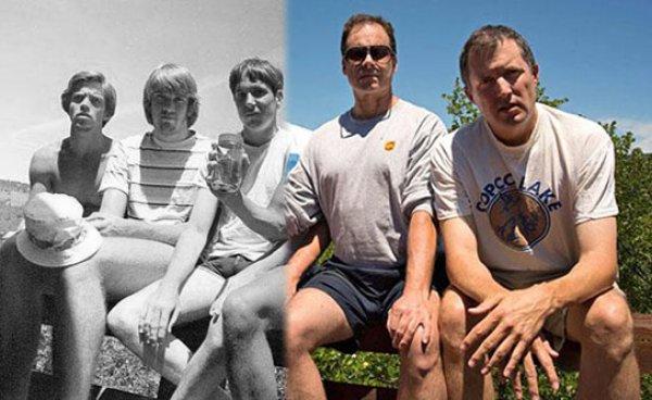 Cảm động rớt nước mắt với nhóm bạn 30 năm chụp cùng 1 kiểu hình