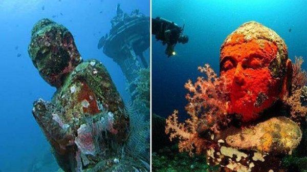 """Thăm ngôi chùa độc đáo """"2000 năm tuổi"""" dưới đáy biển Bali"""