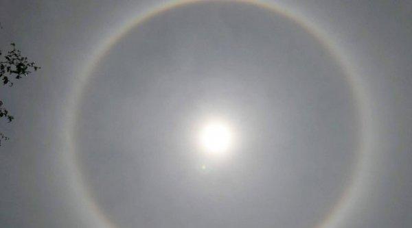 Nghệ An: Xuất hiện vầng sáng lạ bao quanh Mặt trời