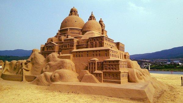 Những công trình ấn tượng tại lễ hội điêu khắc tượng cát Đài Loan