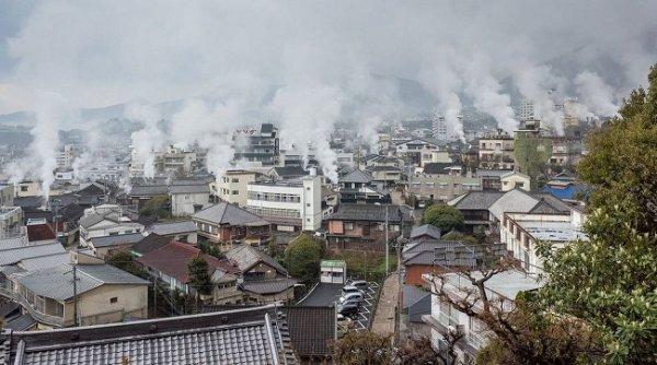 """""""Thị trấn bốc cháy"""" Nhật Bản lúc nào cũng sôi sùng sục"""