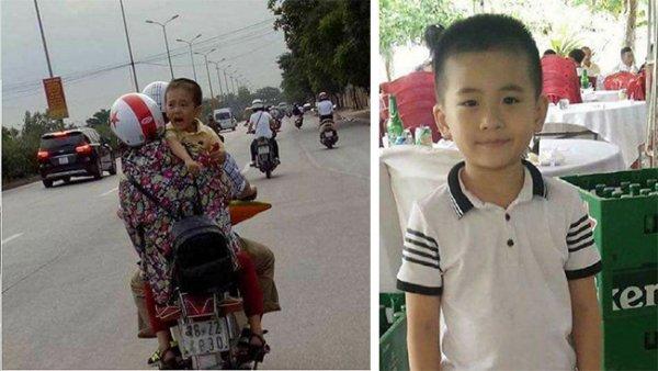 Dân mạng xôn xao với ảnh em bé khóc trên đường nghi là bé trai 6 tuổi mất tích ở Quảng Bình