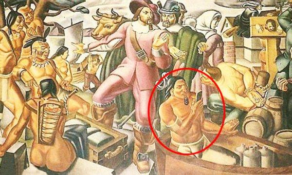 Bức ảnh kỳ lạ: Điện thoại thông minh xuất hiện ở Mỹ từ 400 năm trước?