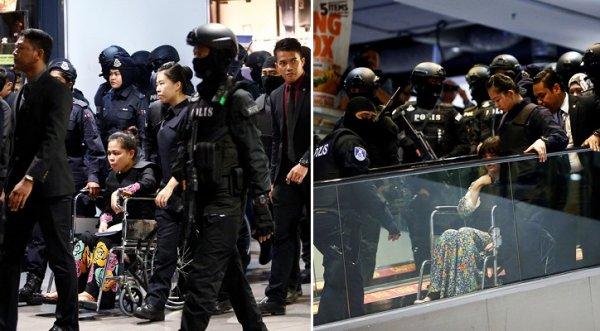 Đoàn Thị Hương phải ngồi xe lăn vì kiệt sức sau 3 giờ mặc áo chống đạn