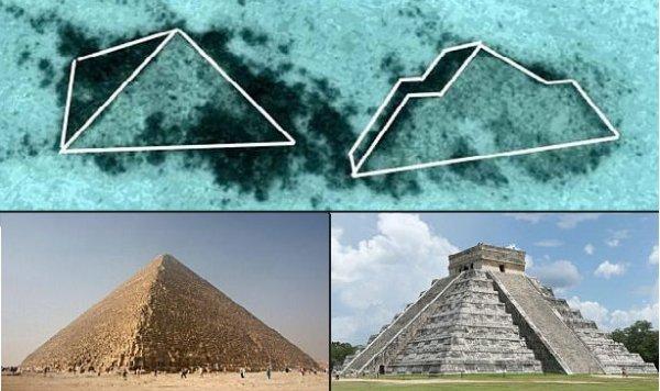 Phát hiện 2 kim tự tháp bí ẩn dưới đáy Đại Tây Dương