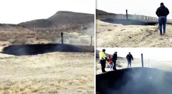Mexico: Xuất hiện hố cháy đen sâu 8m nghi do UFO hạ cánh