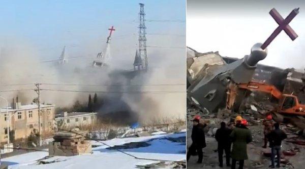 Đàn áp tín ngưỡng ở Trung Quốc: Chính quyền phá hủy nhà thờ bằng thuốc nổ