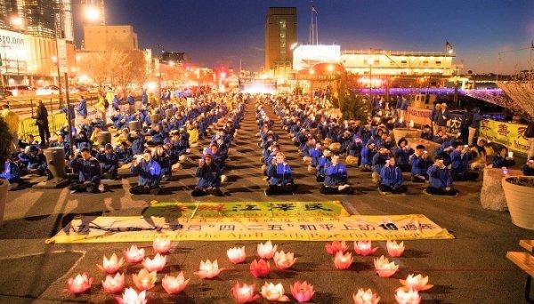 New York: Gần 1.000 người mít-tinh kỷ niệm cuộc thỉnh nguyện ôn hòa 25/4/1999