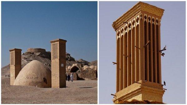 Tháp gió – Hệ thống máy lạnh tự nhiên trong kiến trúc truyền thống của Iran