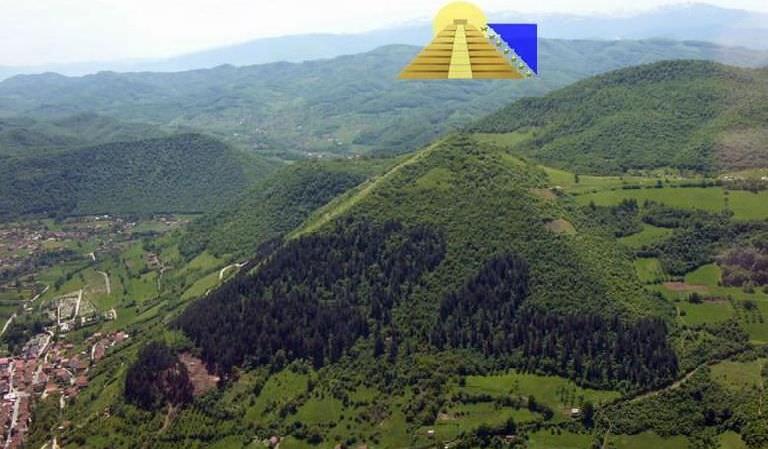 Kim tự tháp Mặt Trời Bosnia. (Ảnh qua Google Plus)