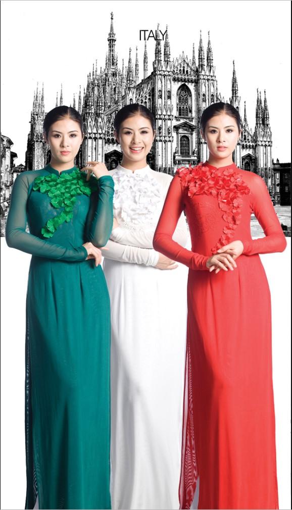 Áo dài Việt thể hiện vẻ đẹp Văn Hóa thế giới.3
