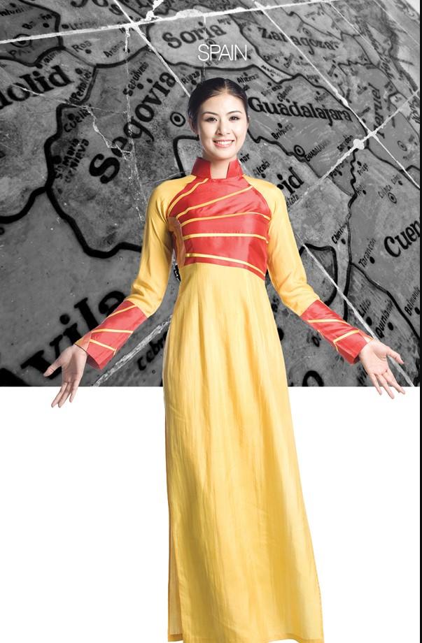 Áo dài Việt thể hiện vẻ đẹp Văn Hóa thế giới.4