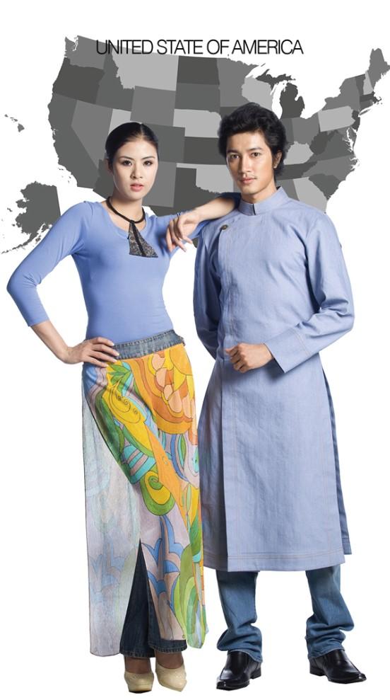 Áo dài Việt thể hiện vẻ đẹp Văn Hóa thế giới.5