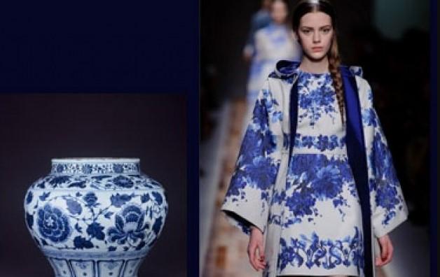 Những mẫu thiết kế thời trang lấy cảm hứng từ bình hoa, đĩa sứ và ấm trà.4