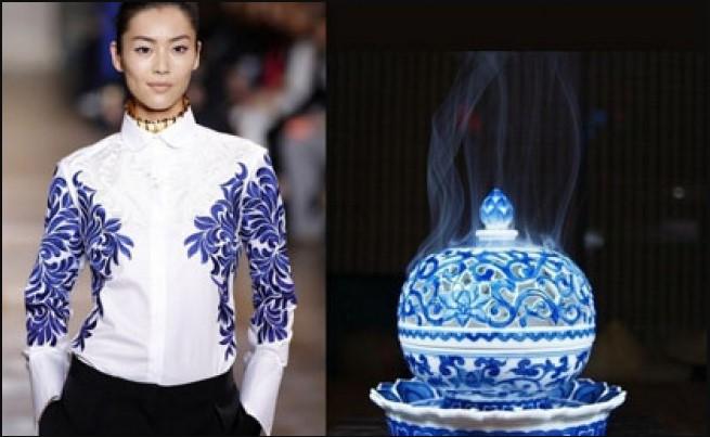 Những mẫu thiết kế thời trang lấy cảm hứng từ bình hoa, đĩa sứ và ấm trà.2