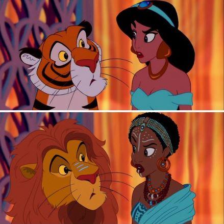 Jasmine từ trong bộ phim Aladdin và Cây đèn thần.