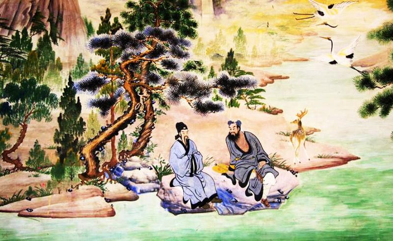 Lã Động Tân và Hán Chung Li trong Bát Tiên. (Ảnh: iFuun)