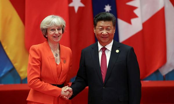 Trong chuyến công du G20, bà Theresa May có thể sẽ trao đổi với ông Tập về dự án điện hạt nhân Hinkley đang bị trì hoãn