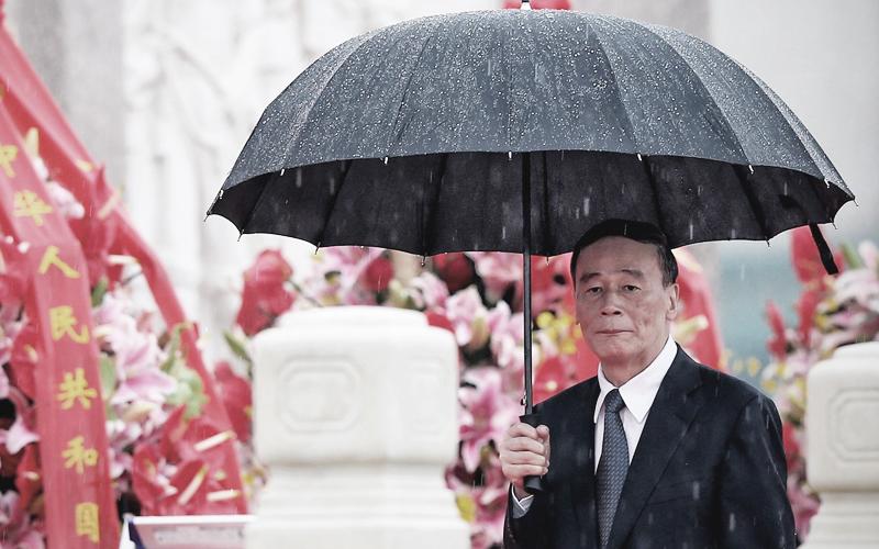 Việc Vương Kỳ Sơn có ở lại sau Đại hội 19 hay không đang thu hút sự quan tâm của ngoại giới.  (Ảnh: Getty Images)