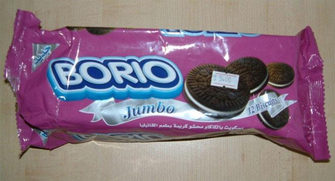 """Theo trang Viralsection.com, thương hiệu bánh quy Oreo bị một công ty Trung Quốc làm nhái thành """"Borio""""."""