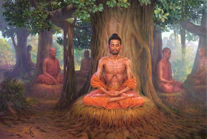 Đức Phật Thích Ca khổ hạnh suốt 6 năm trong rừng gia. (Ảnh: anarquista)
