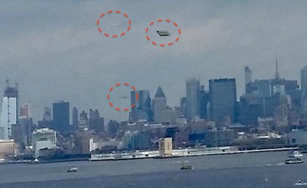 Vật thể lạ bay lượn trên bầu trời New York (Mỹ)