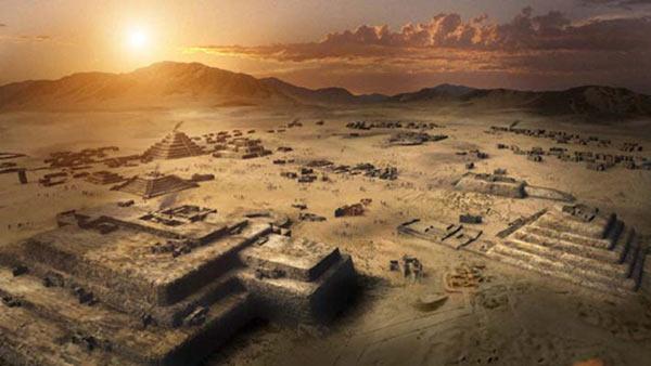 Thành phố cổ Caral, thủ phủ của nền văn minh 5000 năm tại Peru.