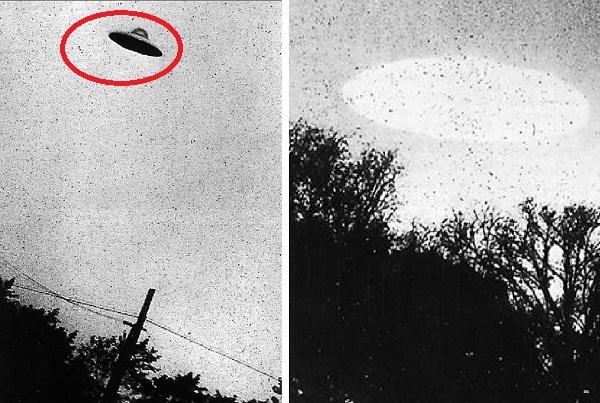 Hàng loạt bức ảnh về UFO xuất hiện trong quá khứ được công bố.