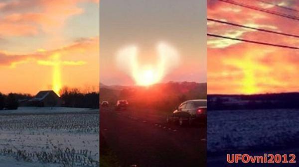Hai cột sáng bí ẩn xuất hiện ở Mỹ gây xôn xao cộng đồng mạng.