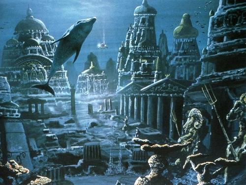 Bức ảnh thần Krishna và thành phố vàng, trước khi nó bị nhấn chìm. (Ảnh: Internet)