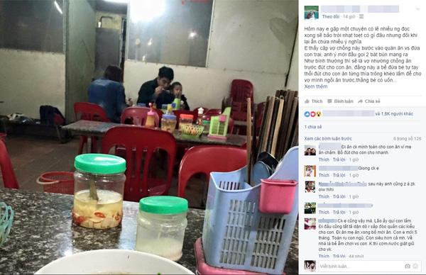 Dòng chia sẻ của một cô gái đăng trên Facebook.