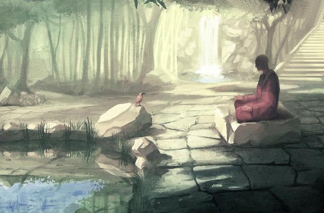 Khi sư đang ngồi thiền thì bị đám yêu ma kéo đến quấy phá. (Ảnh minh họa từ internet)