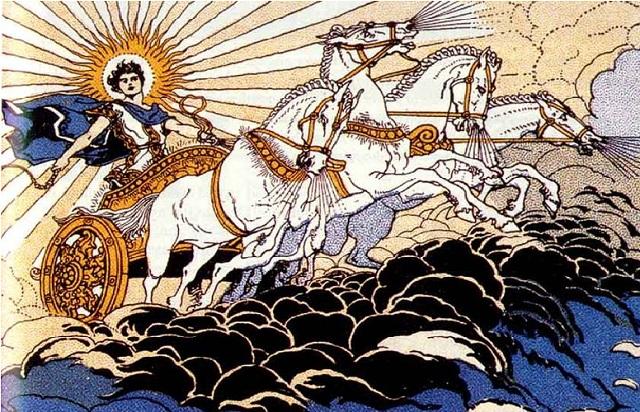 Phaethon và cỗ xe Mặt Trời. (Ảnh: Internet)