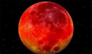 Nguyệt thực (hay còn gọi là Mặt Trăng máu) là hiện tượng thiên văn khi Mặt Trăng đi vào hình chóp bóng của Trái Đất, đối diện với Mặt Trời. (Ảnh: internet)