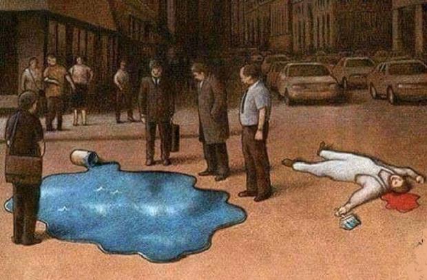 Con người càng ngày càng trở nên vô cảm. (Ảnh: Internet)