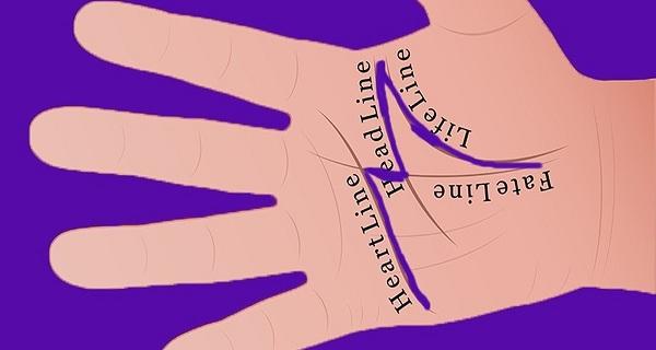 lòng bàn tay chữ m