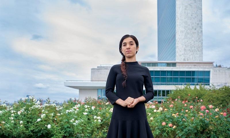 Nadia Murad, cô gái không sợ IS và đang nỗ lực để buộc những kẻ khủng bố phải bị xét xử trước công lý. (Ảnh: Glamour)