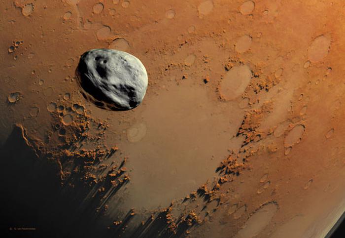 Thiên thạch có thể mang mầm sống từ sao Hỏa đến Trái đất. (Ảnh: Internet)