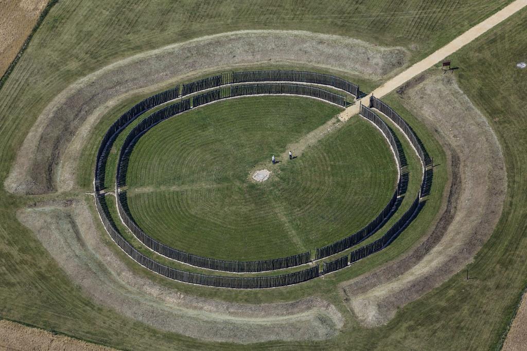 Hình dựng lại Vòng tròn Goseck ở Saxony-Anhalt, Đức. (Ảnh: Flickr)